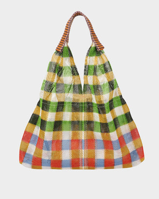 Épice Accessories Plaid Sac in Grass