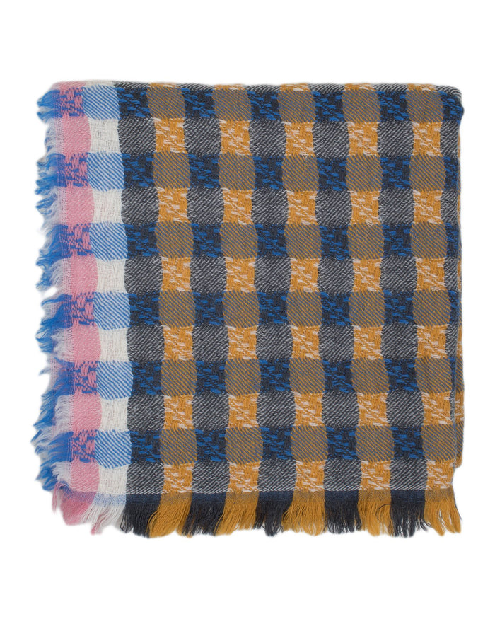 Épice Accessories Mustard / O/S Plaid Scarf