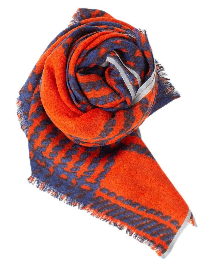 Épice Accessories Fire / O/S Tweed Check Scarf in Fire