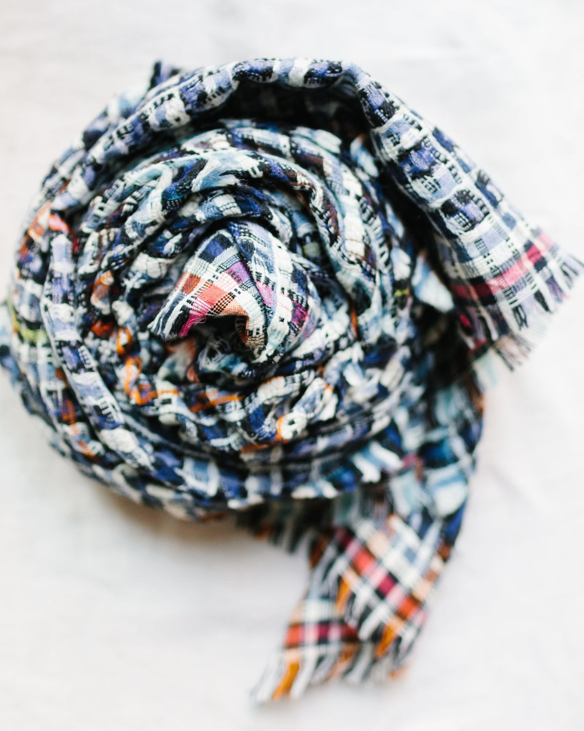 Épice Accessories O/S / Waterfall Woven Plaid Scarf in Waterfall