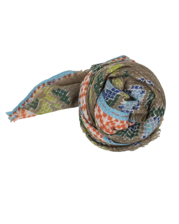 Épice Accessories Olive / O/S X Stitch Floral Scarf