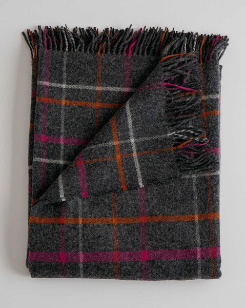 Evangeline Home Ledge Plaid Multi / O/S Merino Lambswool Throw