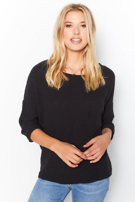 Felicite Apparel Clothing Black / XS Off the Shoulder Top in Black
