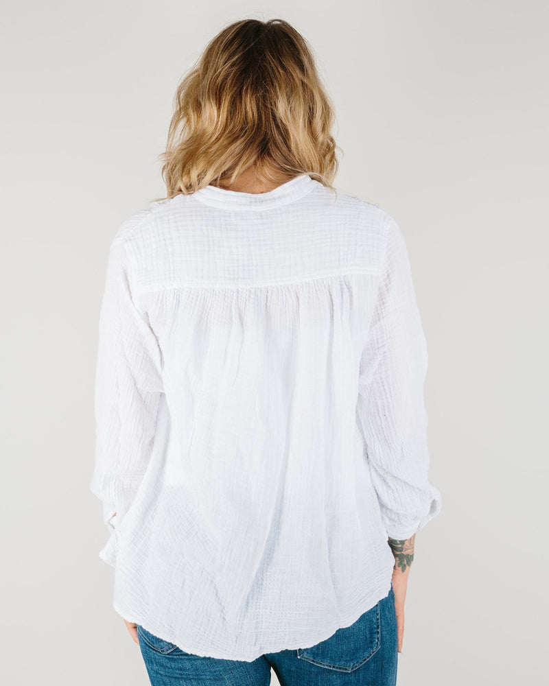 Felicite Apparel Clothing Poet Top in White