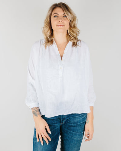 Felicite Apparel Clothing White / XS Poet Top in White