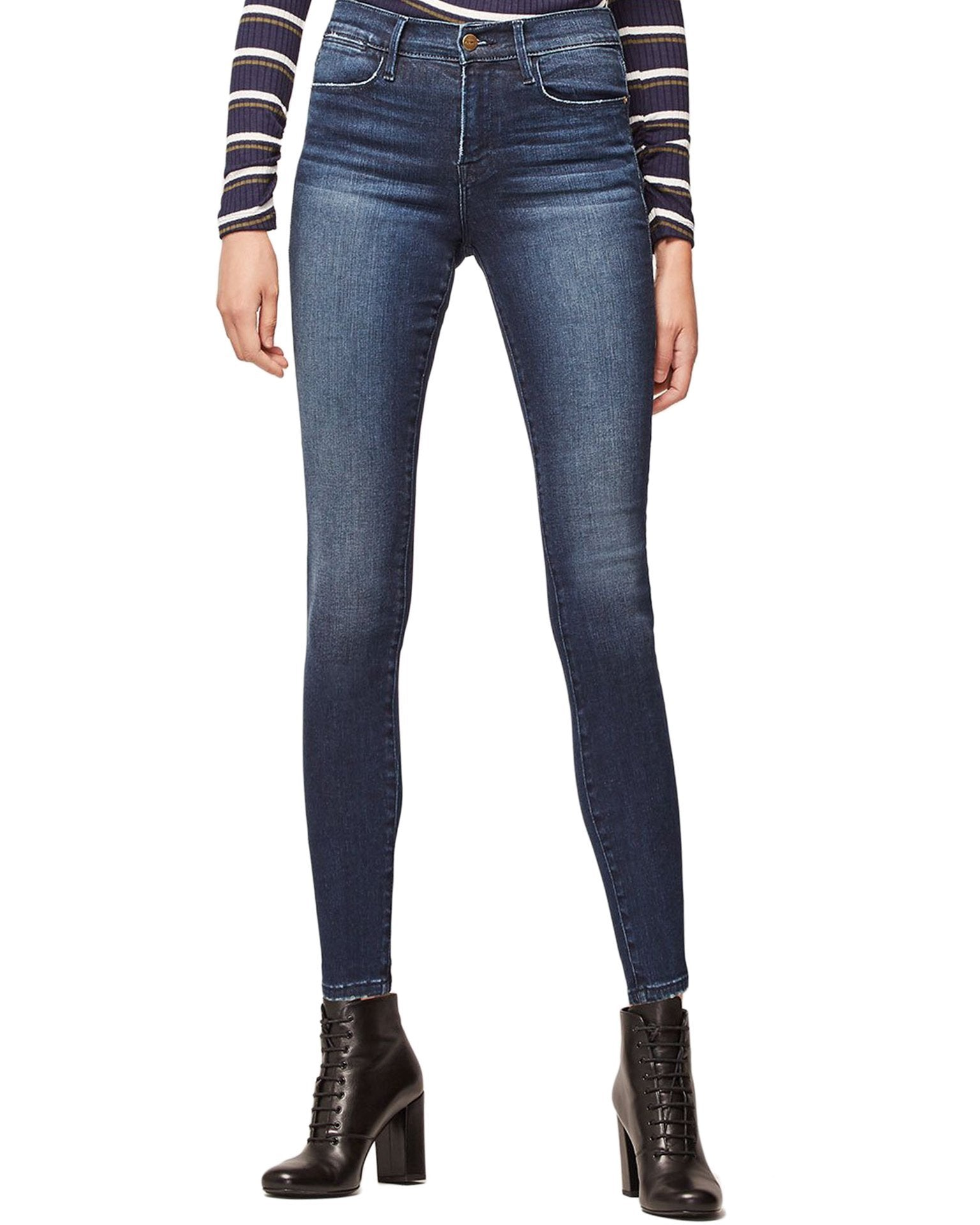 Frame Denim Swank / 25 Le High Skinny in Swank