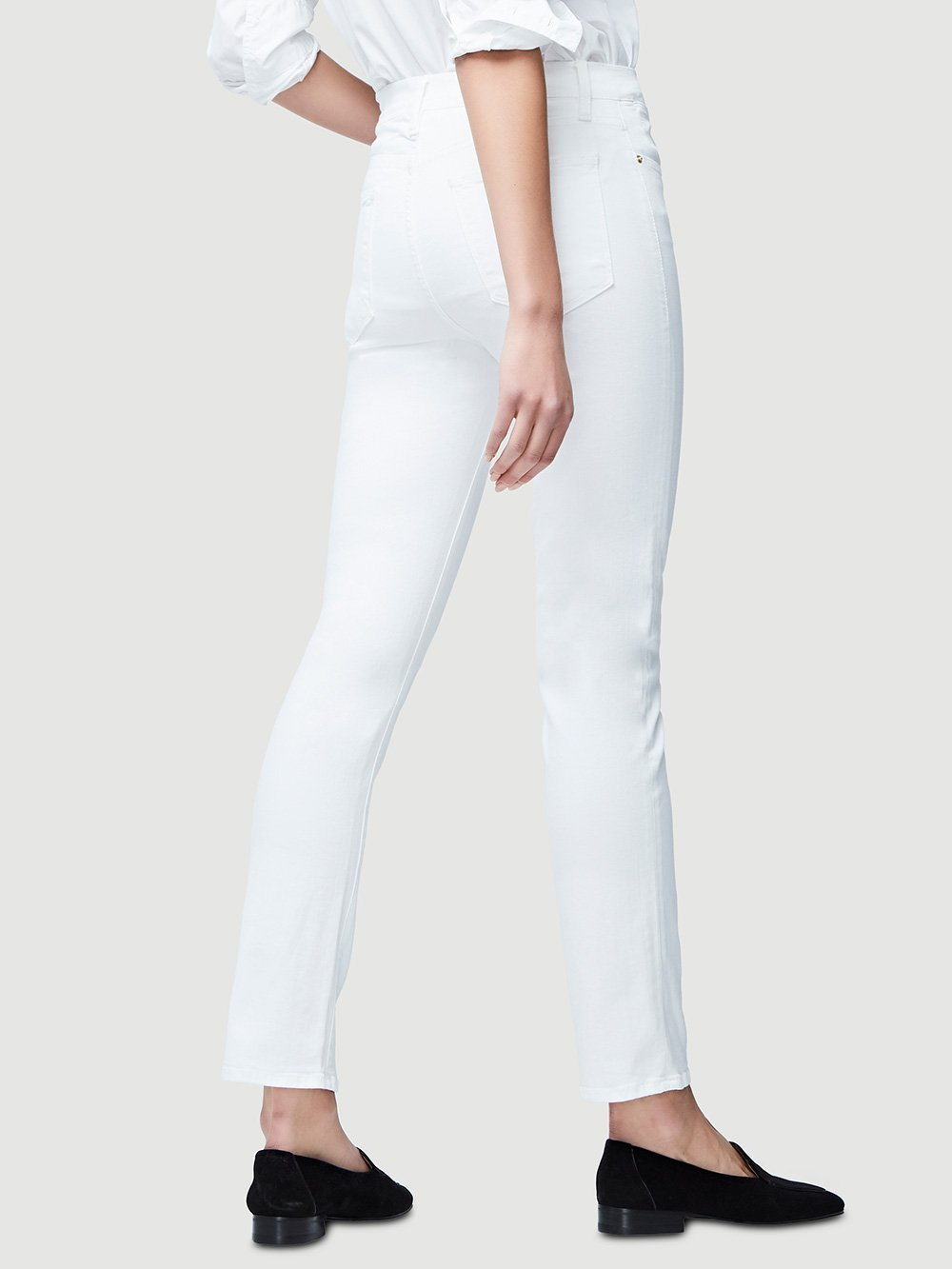 Frame Denim Le High Straight in Blanc