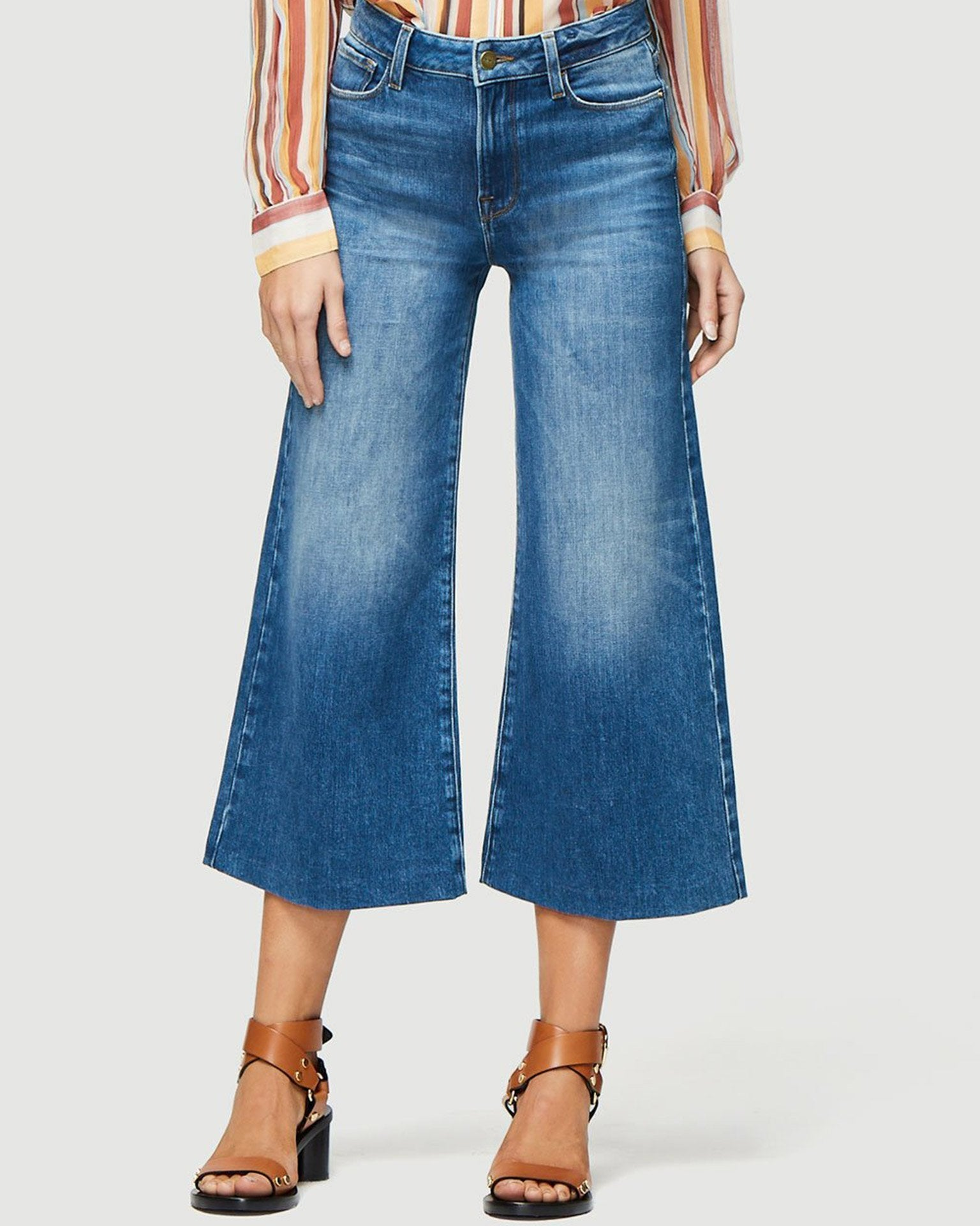 Frame Denim Webster / 24 Le Vintage Crop Blindstitch in Webster