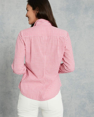 Frank & Eileen Clothing Barry Button Down in Hot Pink Check