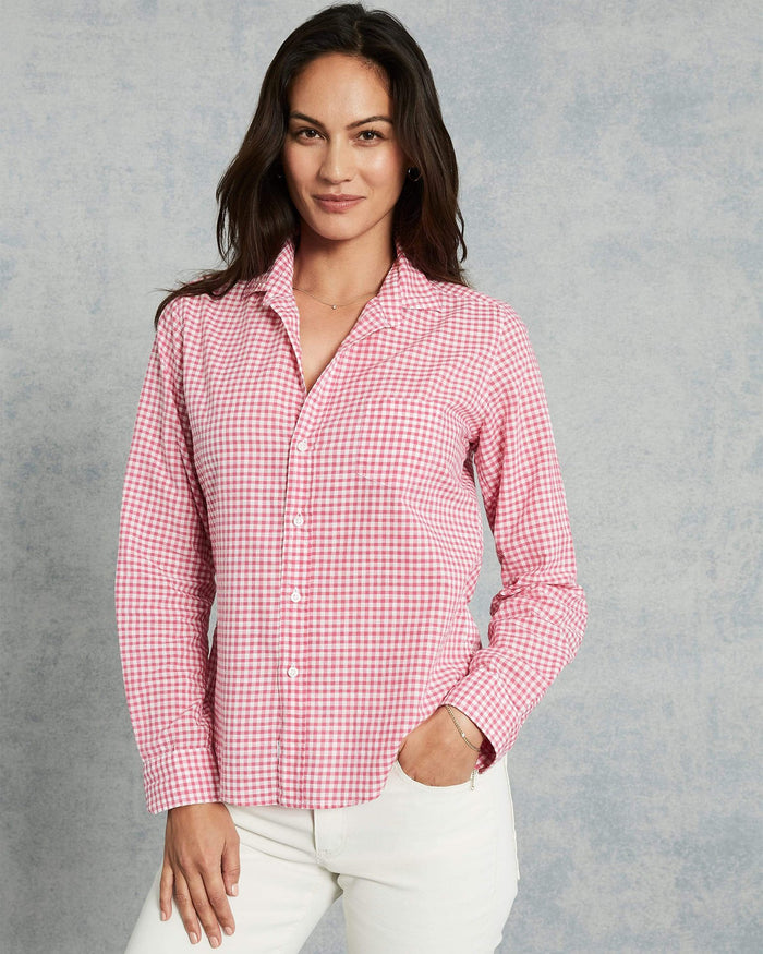 Frank & Eileen Clothing Hot Pink Check / XS Barry Button Down in Hot Pink Check