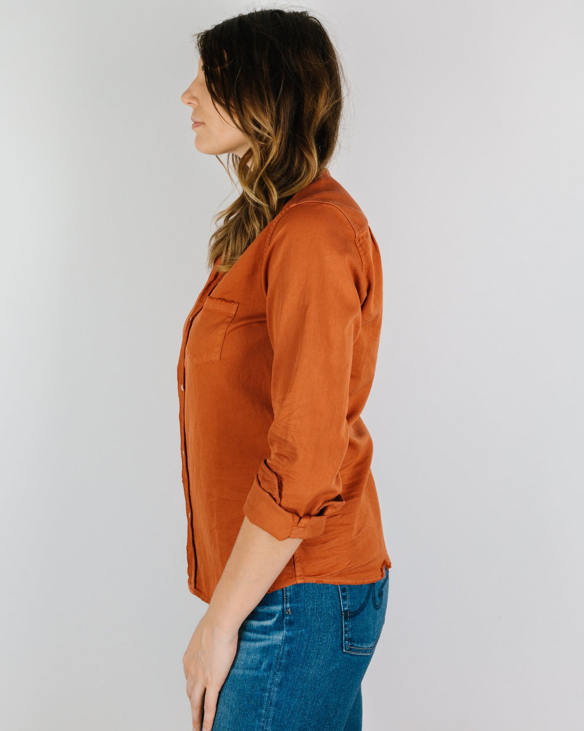 Frank & Eileen Clothing Barry in Rust Famous Denim