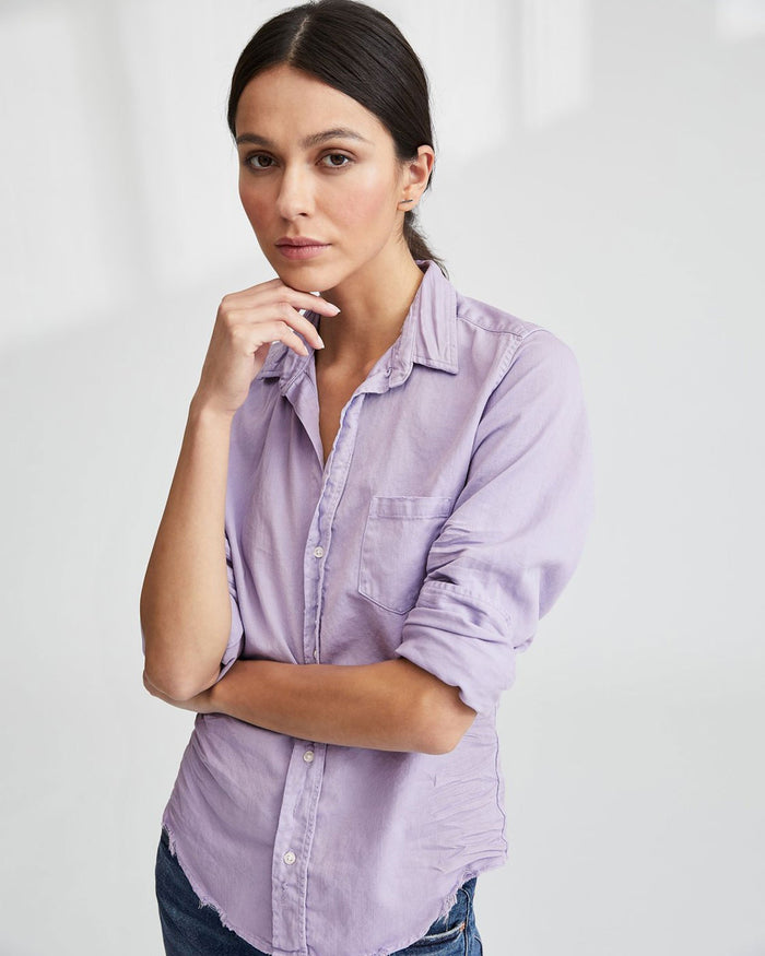 Frank & Eileen Clothing Lilac Tattered Denim / XS Barry L/S Button Down in Lilac Tattered Denim
