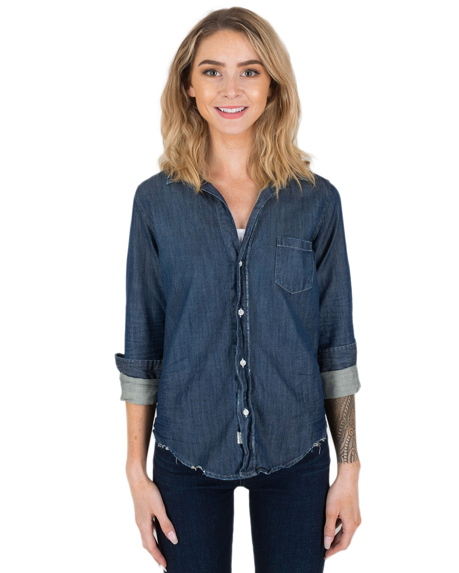 d40179f76 Frank & Eileen Clothing Raw Rinse Tattered Denim / XS Barry L/S Button Down  ...