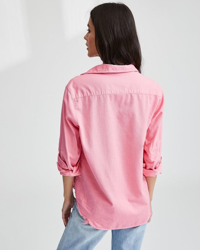 Frank & Eileen Clothing Candy Pink Denim / XS Eileen Relaxed Button Down in Candy Pink Denim