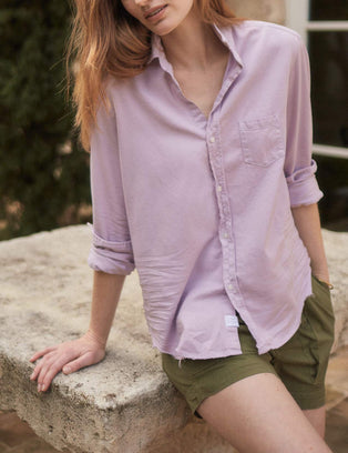 Frank & Eileen Clothing Eileen Relaxed Button Down in Lavender Denim