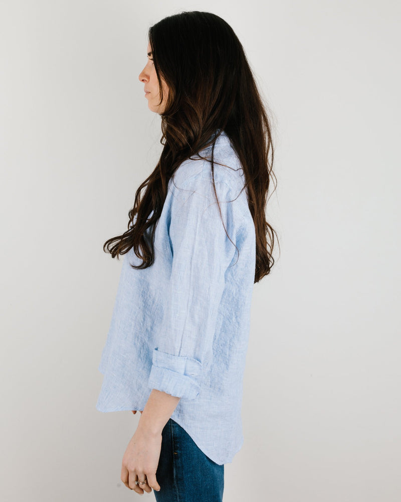 Frank & Eileen Clothing Eileen Relaxed Button Down in Light Blue Linen