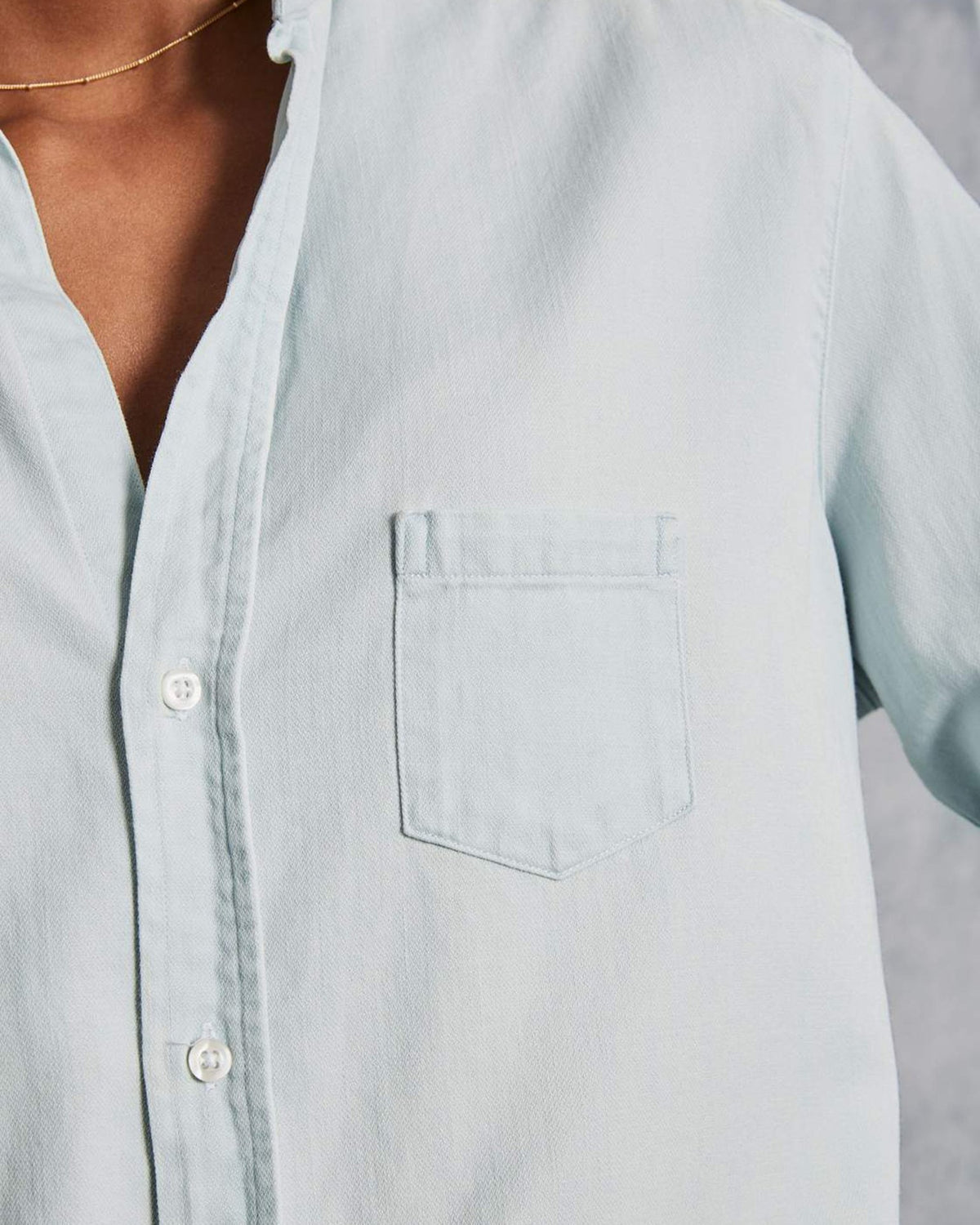 Frank & Eileen Tops Eileen Relaxed Button Down in Super Washed Denim