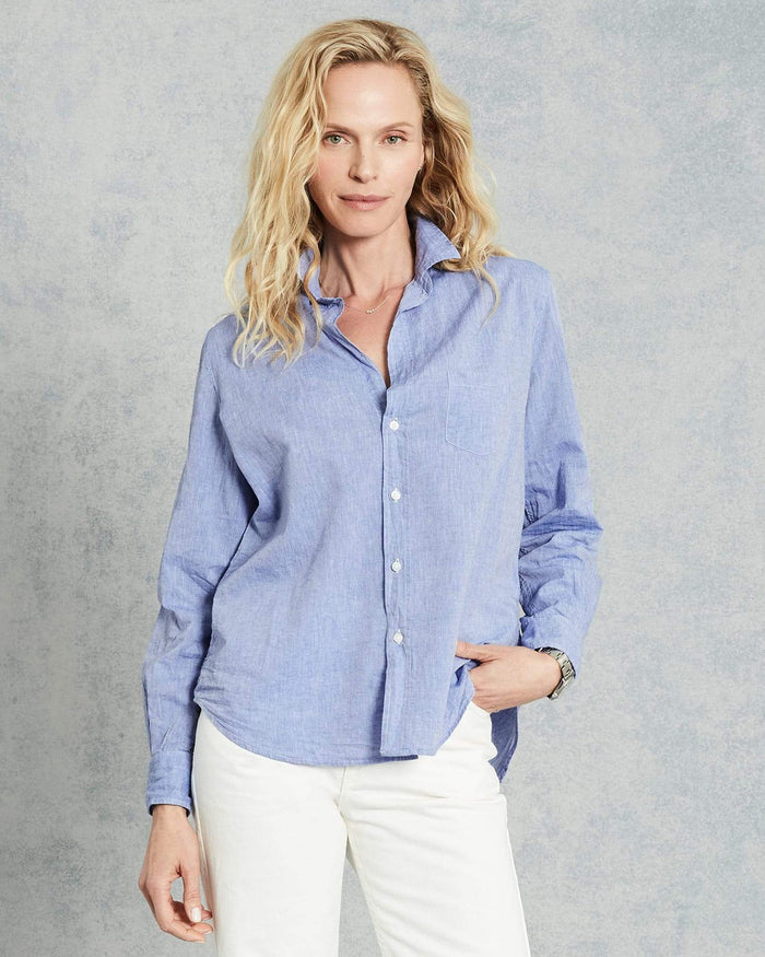 Frank & Eileen Clothing Washed Blue / XS Eileen Relaxed Button Down in Washed Blue