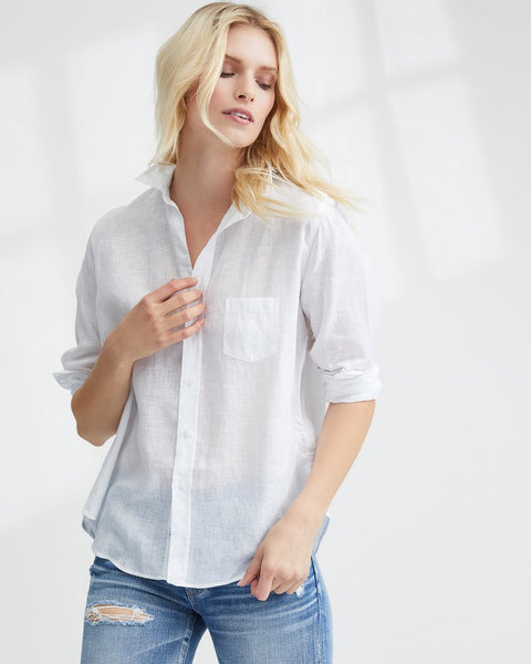 Frank & Eileen Clothing White Linen / XS Eileen Relaxed Button Down in White Linen