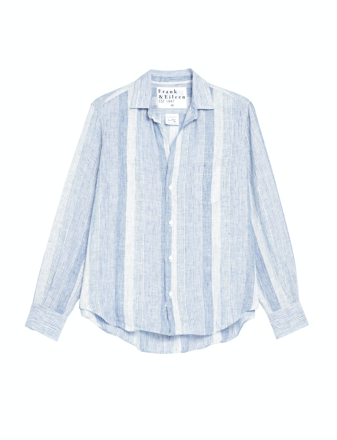 Frank & Eileen Clothing Multi-Blue Stripe / XS Elieen Relaxed Button Down in Multi-Blue Stripe
