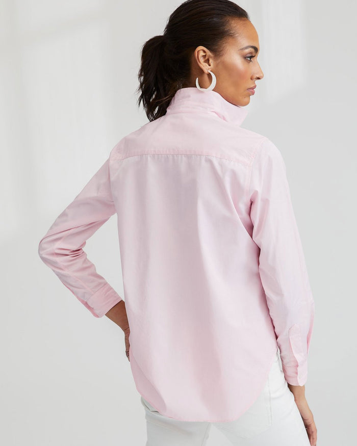 Frank & Eileen Clothing Pink Super Fine Poplin / XS Frank L/S Button Down in Pink Super Fine Poplin