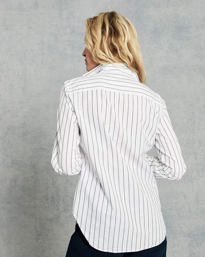 Frank & Eileen Clothing Frank L/S Button Down in Thin Navy Stripe