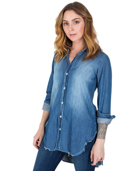Frank & Eileen Clothing Distressed Vntg Wash / XS Grayson L/S Button Up Tunic