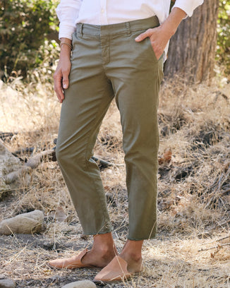 Frank & Eileen Clothing Wicklow Italian Chino in Army Green