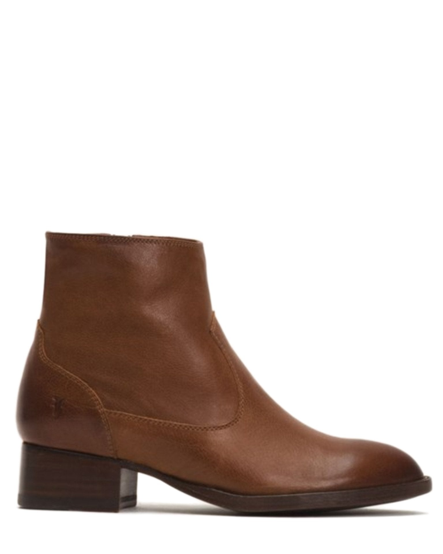Frye Shoes Cognac / 6 Brooke Short Inside Zip