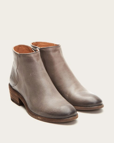Frye Shoes Graphite / 6 Carson Piping Bootie
