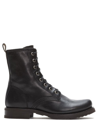 Frye Shoes Black / 6 Veronica Combat in Black