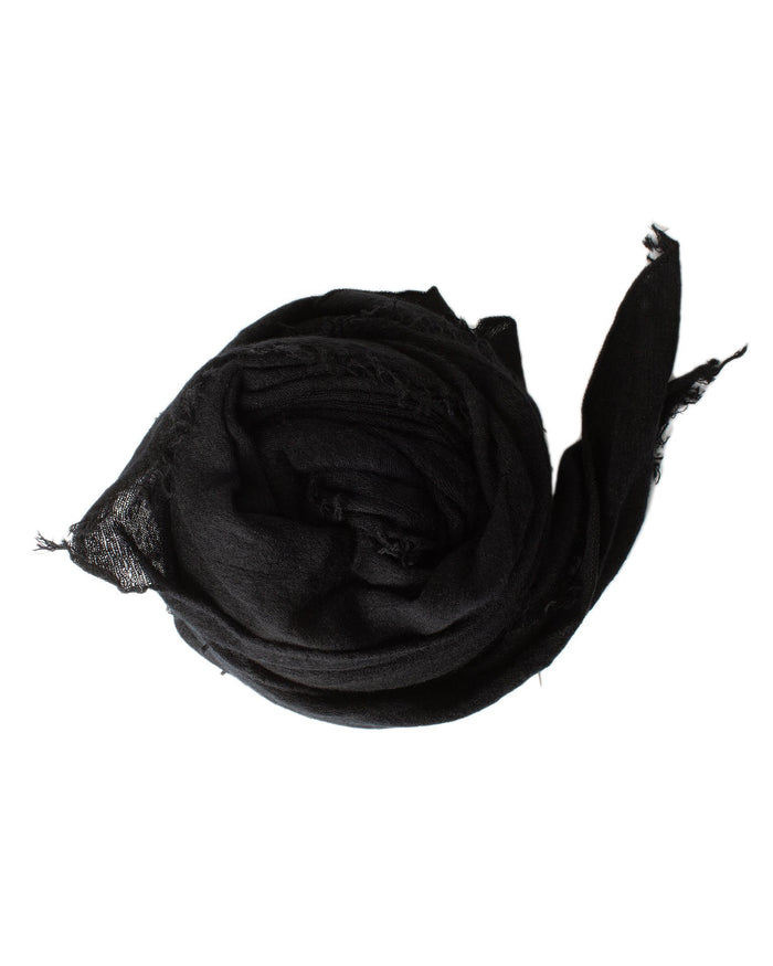 Grisal Accessories Black Love Cashmere Scarf in Black