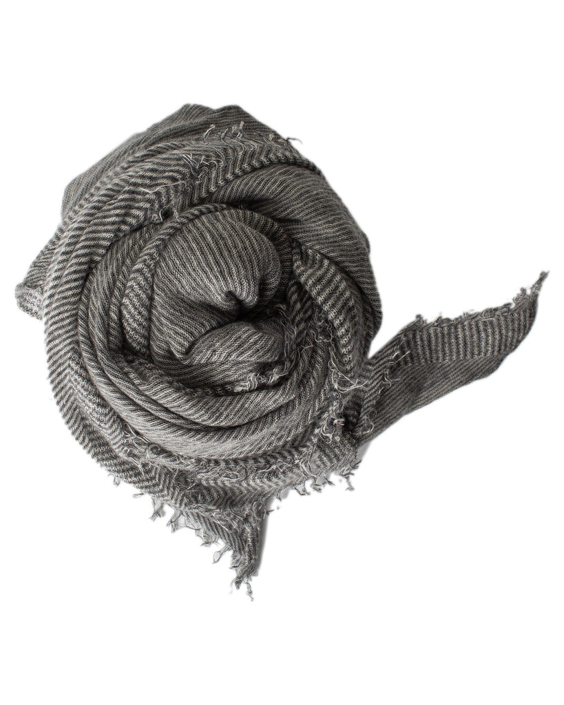 Grisal Accessories Charcoal x Milk Love Cashmere Scarf in Charcoal x Milk