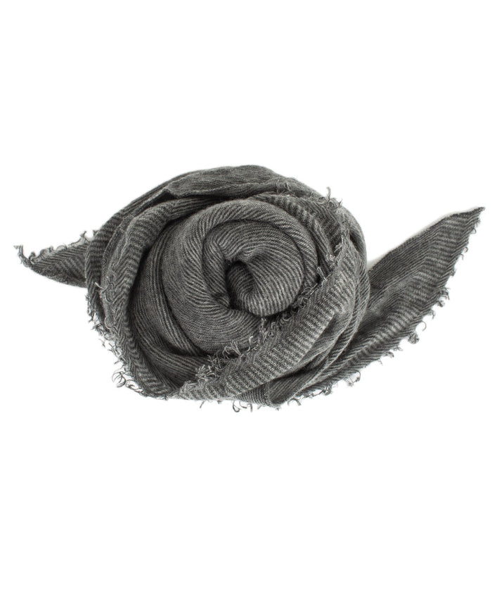 Grisal Accessories Heather Grey x Charcoal Love Cashmere Scarf in Heather Grey x Charcoal