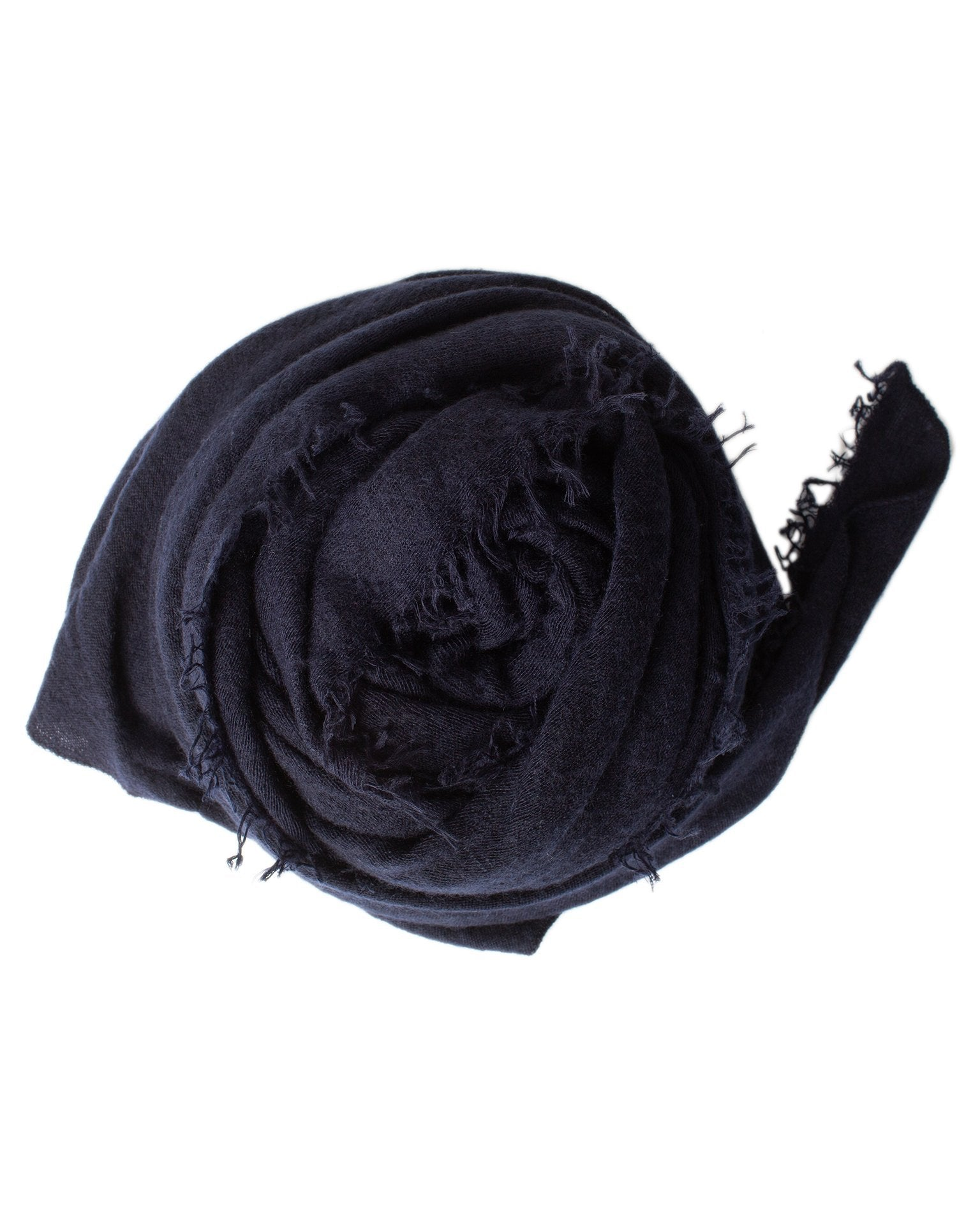 Grisal Accessories Navy Love Cashmere Scarf in Navy