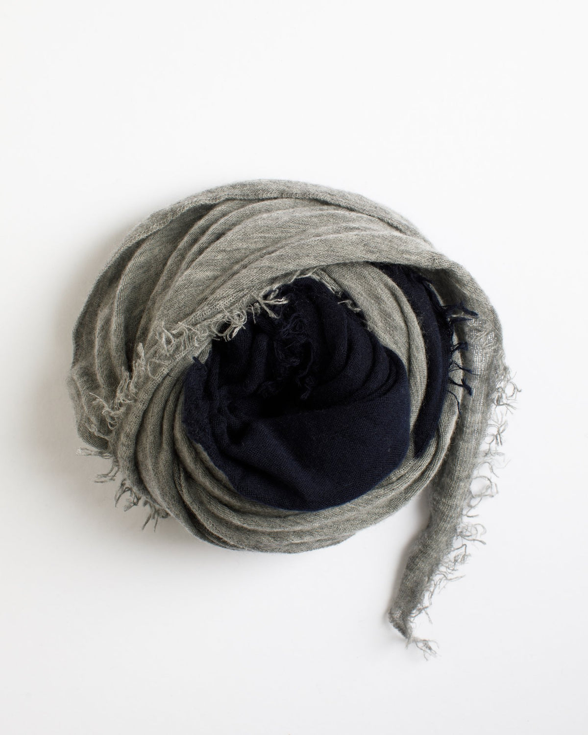Grisal Accessories Navy & Heather Grey Love Duo Scarf in Navy & Heather Grey