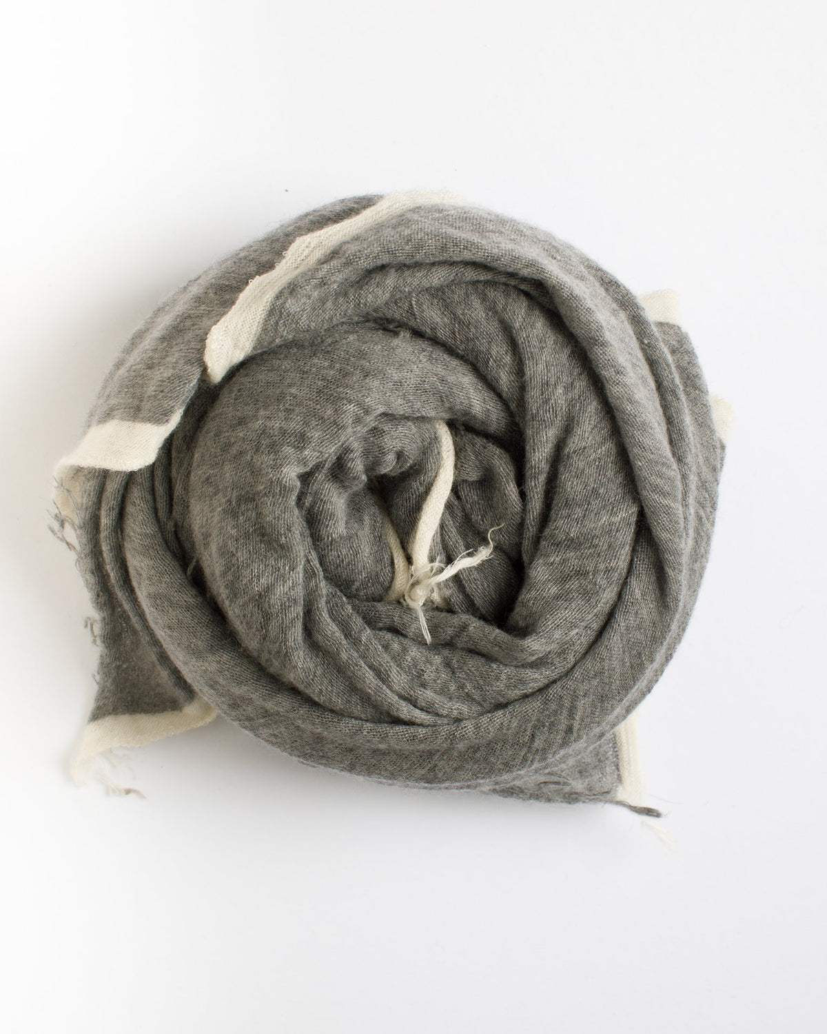 Grisal Accessories Heather Grey X Milk Rosa Cascade Cashmere Scarf in Heather Grey X Milk