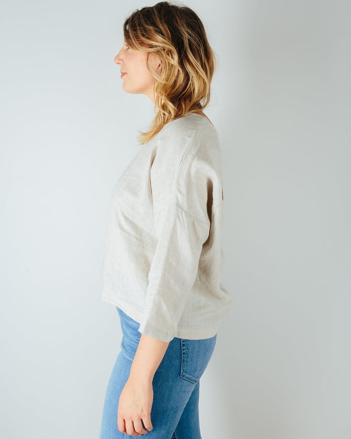 It Is Well LA Clothing Easy 3/4 Sleeve Top in Natural