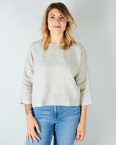 It Is Well LA Clothing Natural / S Easy 3/4 Sleeve Top in Natural
