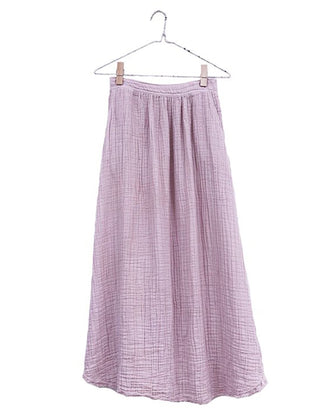 It Is Well LA Clothing Lilac / S Full Frayed Skirt in Lilac