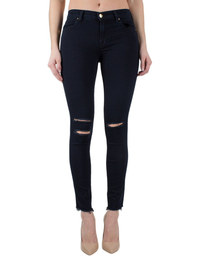 J Brand Denim Blue Mercy / 25 8227 Mid Rise Ankle Skinny-Blue Mercy