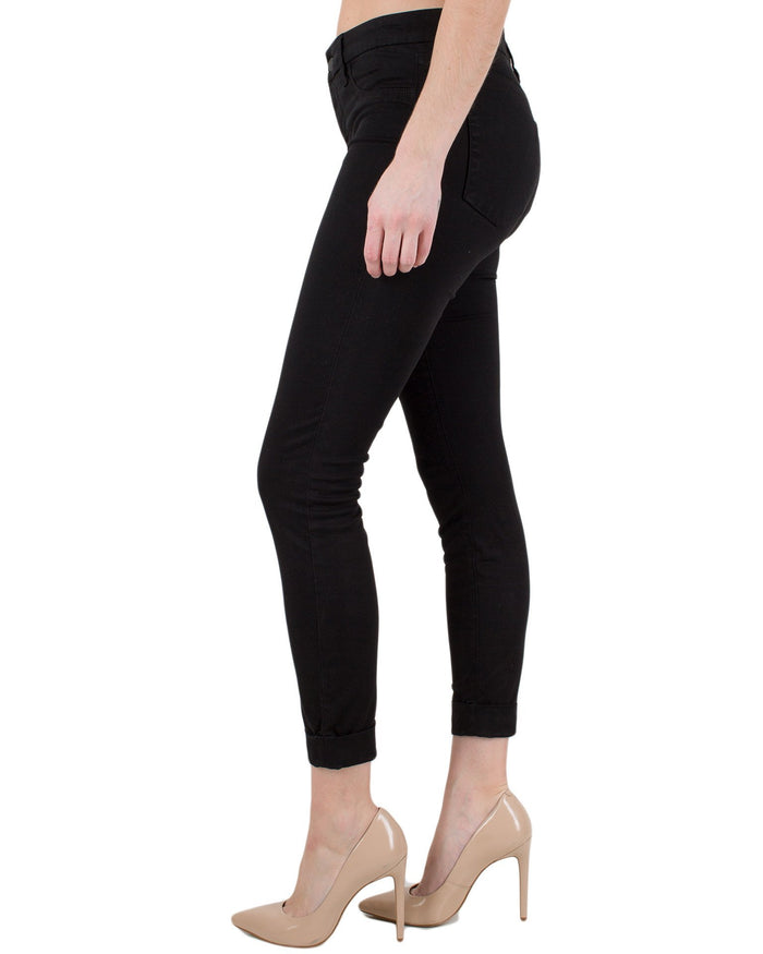 J Brand Denim Black / 25 Anja Cuffed Cropped Pant
