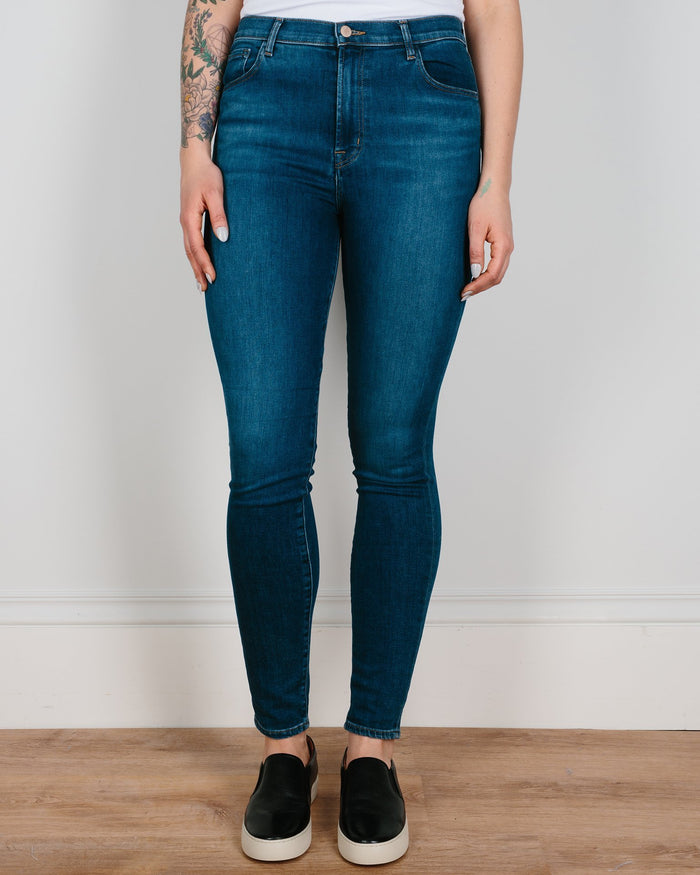 J Brand Denim Hewes / 25 Carolina Super Hi Rise Skinny in Hewes