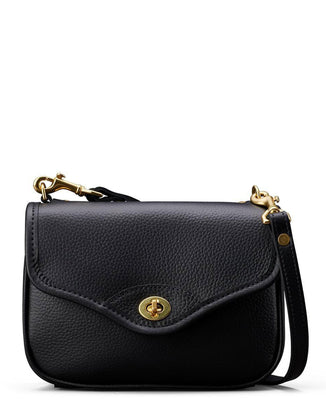 J.W. Hulme Accessories Pebbled Black Lthr / O/S Hugo Flap Bag in Pebbled Black Leather