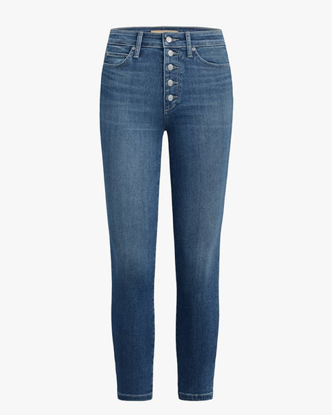 Joe's Jeans Denim Nessa / 24 Charlie Crop Exposed Button Fly in Nessa
