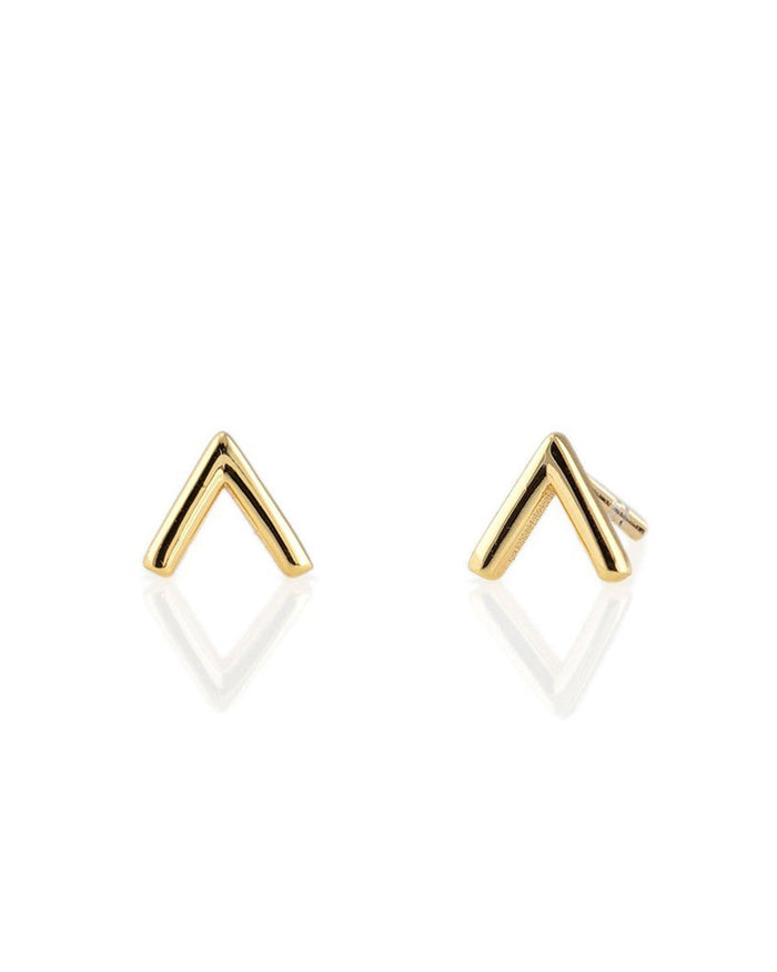 Kris Nations Jewelry 18K Gold Vermeil / O/S Chevron Studs