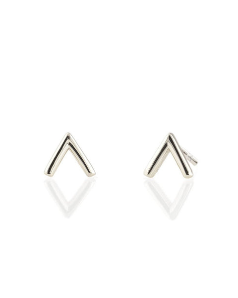 Kris Nations Jewelry Sterling Silver / O/S Chevron Studs
