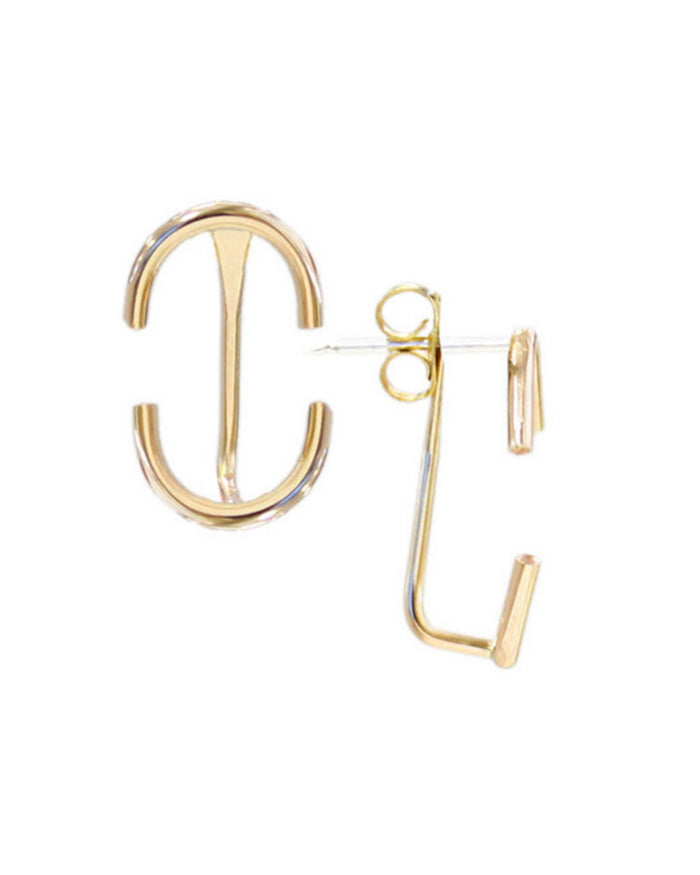 Kris Nations Jewelry Gold / O/S Classic Arc Creeper Earrings