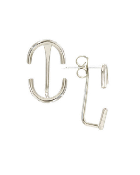 Kris Nations Jewelry Silver / O/S Classic Arc Creeper Earrings