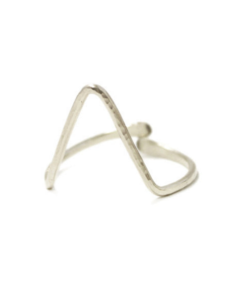 Kris Nations Jewelry Silver / O/S Classic Single Large Chevron Ring